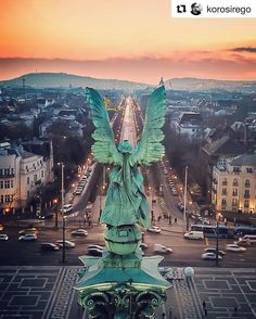Archangel Gabriel the Awakener, Over Budapest, Hungary Beautiful Places To Travel, Most Beautiful Cities, Cruise Travel, New Travel, Budapest Travel Guide, Danube River Cruise, Capital Of Hungary, Budapest Hungary, European Travel