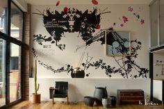 Création murale pour le loft d'un particulier
