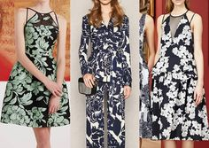 MONO FLORALS Two colour prints_relief florals_bold simplicity_large stencilled florals_monochromatic_over-scaled blooms Pre_fall_2015_Print_trends_Mono_florals