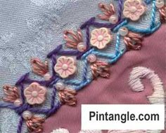 Stitch 6 of the Take a Stitch Tuesday (TAST) challenge which helps you to develop your hand embroidery skills and provides loads of information.