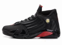 Air Jordan 14 Retro Shoes Black Red