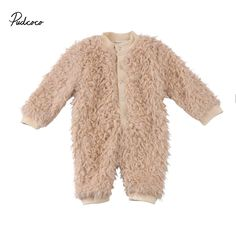 5aacb6bb6be65 CANIS 2018 New Baby Boy Girl Winter Villus Romper Casual Clothes Thick  Fleece Romper Jumpsuit Clothes Outfit
