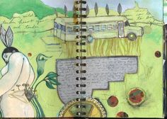 Fantastic art journals by Kelcey Loomer from Sweet Mess Mind Journal, Art Journal Pages, Art Journals, Journal Ideas, Drawing Sketches, Drawings, Sketchbook Inspiration, Fantastic Art, Zentangles