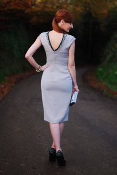 8 Christmas Party Dresses Ideas (cocktail dress with deep V back)
