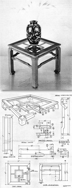 Chinese Tea Table Plans - Furniture Plans and Projects | http://WoodArchivist.com