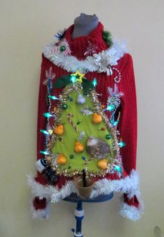 shop partridge pear tree tacky ugly christmas sweater womens large