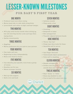 Milestones for babies first year Wondering when your baby will start giggling? Here's your cheat sheet! - Baby Development Tips Baby Tips, Baby Care Tips, Pinterest Baby, My Bebe, Babies First Year, One Month Old Baby, 1st Year, First Foods For Baby, First Kid