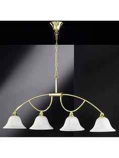 """Lampa wisząca """"Hella"""" w kolorze mosiądzu - szer. 108 cm kampania: Honsel - lampy  391.00 zł** 753.00 zł*-48%*"""
