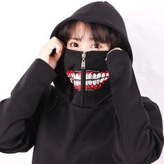 Anime Tokyo Ghoul Hoodie Zip Up Mask Hoodie Kaneki Ken Pullover Tokyo Ghoul Shirt, Tokyo Ghoul Cosplay, Anime Outfits, Cute Outfits, Fashion Outfits, Emo Outfits, Emo Fashion, Hoodie Jacket, Zip Hoodie