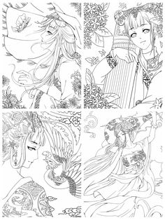 Coloring Books, Coloring Pages, Cartoon Styles, Chinese, Illustrations, Portrait, Vintage Coloring Books, Quote Coloring Pages, Colouring Pages
