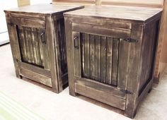 How to build a DIY restoration hardware nightstand. Free plans by Ana White, tutorial by Jen Woodhouse