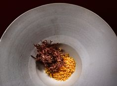 Galleries – The Art of Plating Calve's tongue by chef Esben Holmboe Bang.