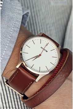 The Rose Gold Natural Tan watch is simply understated elegance. With a case & genuine tan leather strap, this watch pairs with almost any outfit. Best Watch Brands, Mens Dress Watches, High End Watches, Swiss Army Watches, Natural Tan, Luxury Watches For Men, Beautiful Watches, My Guy, Sport Watches