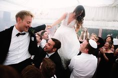Chair dance | A romantic English Country garden Jew-ish wedding | Smashing the Glass Jewish wedding blog