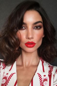 50 shades of red to inspire you this Valentine's Day: Lily Aldridge