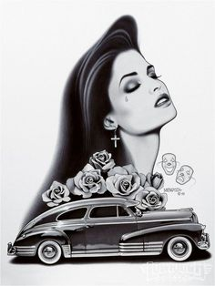 "alamaquina: ""Arte de Julian Mendoza It's about damn time I've made a photoset out of these works! Mendoza is just…… amazingly brilliant. Cholo Art, Chicano Art, Raza Latina, Chicanas Tattoo, Estilo Cholo, Latino Art, Lowrider Art, Pin Up Tattoos, Body Tattoos"