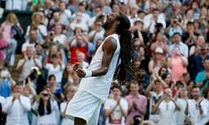 Dustin Brown celebrates after beating Rafael Nadal - Inspired tennis, Wimbledon at its best. Wimbledon 2015, James Ward, Rafael Nadal, The Guardian, Victorious, Shit Happens, Celebrities, Brown, Day
