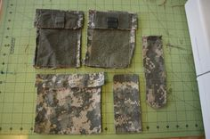 diy bag out of military blouse - possible diaper bag. Now to convince my husband to let me have one of his shirts.