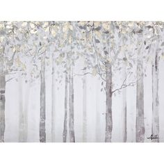 Yosemite Home Decor Grey and Yellow Trees: 40 x 28-Inch Wall Art ($90) ❤ liked on Polyvore featuring home, home decor, wall art, leaves wall art, yellow tree, fall leaves trees, wall tree and fall trees