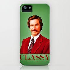 THE LEGEND OF RON BURGUNDY - Anchorman iPhone & iPod Case by John Medbury (LAZY J Studios) - $35.00