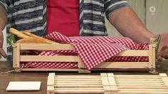 Faltbares Brotkörbchen: Wieder eine gute Idee von Martina Lammel: Ein faltbares Brotkörbchen. Einfach, praktisch, selbst gemacht!