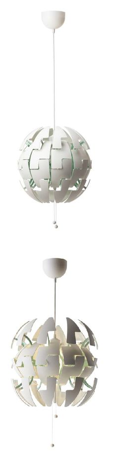 IKEA PS 2014 pendant lamp. Switch between a brighter, general light and a softer mood light, just by pulling the strings.