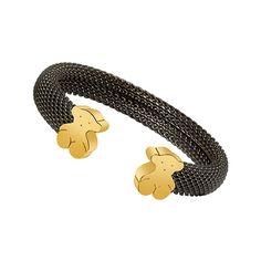 Tous iconic mesh gold/silver cuff bracelet,