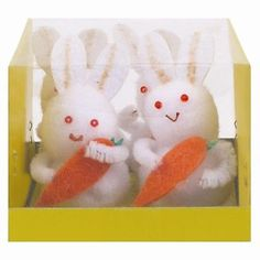 #Easter #bunnies with #carrots 4 in a pack easter decorations ,  View more on the LINK: http://www.zeppy.io/product/gb/2/301882528800/