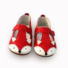 Fox Genuine Leather Baby Moccasins Anti Slip Princess Baby Girl Shoes Cartoon Infant Girl Toddler Shoes 4 Colors