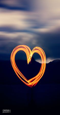 Heart Trails of Fire