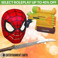 DEAL OF THE WEEK Roleplay Items! Friday, September 30, 2016  For one week only, get up to 40% off select roleplay items! Need accessories for your costume this Halloween? We've got the Avengers 2 Age of Ultron Hawkeye Bow and Arrow Set and the Ultimate Spider-Man Basic Hero Mask you can pair with the Spiral Blast Web Shooter  TO BUY CLICK ON LINK BELOW http://tomatovisiontv.wix.com/tomatovision2#!action-figure/c1t9c