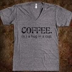 Coffee. A Hug in a Cup. Tee (Artistamp) @Heather {RaeElle Photography}