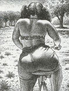 Robert Crumb's Art & Beauty Drawings Art And Illustration, Black Women Art, Black Art, Images Star Wars, Plus Size Art, Erotic Art, Female Art, Art Inspo, Art Girl