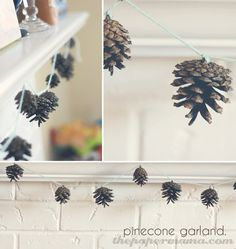 50 DIY days: Pinecone garland - The Paper Mama