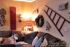 Creative Country Mom's Vintage Home and Garden: Our Rustic Family Room For The Holidays