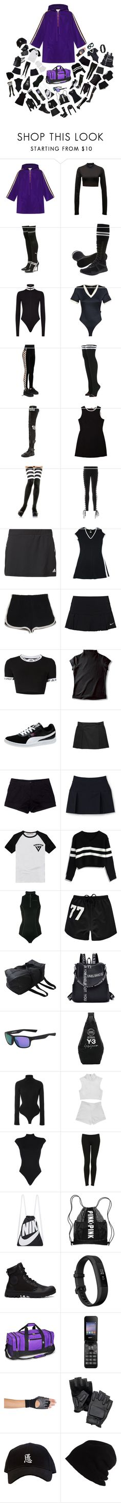 """Untitled #941"" by astral-leech ❤ liked on Polyvore featuring Gucci, Puma, Stance, Leg Avenue, adidas, Retrò, NIKE, UNIF, Prada Sport and Lands' End"