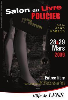 13ème édition Salon du Livre policier de Lens (62300) : 28-29/03/2009