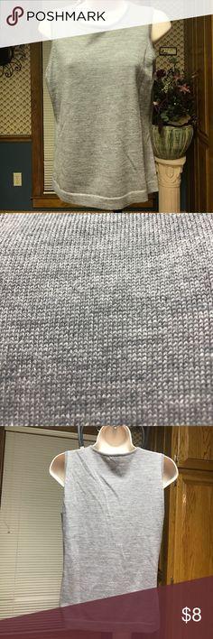 Gap pullover sweater tank Gap pullover sleeveless light gray sweater. 100% merino wool. Hand wash. GAP Tops Tank Tops