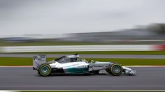 Here's Nico Rosberg and Lewis Hamilton's new ride for the 2014 season, and I dare say it's the prettiest of them all so far. Unfortunately, Hamilton just crashed his in Jerez during testing. Mercedes Amg, Nico Rosberg, Hamilton, Amg Petronas, Daimler Benz, Laval, Going For Gold, F1 Racing, Cars