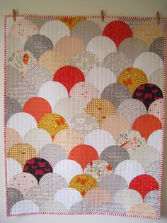 Glam clam quilt | Bind Quilts  This is gorgeous!!! And a great example of how to mix other prints with Lizzy House's