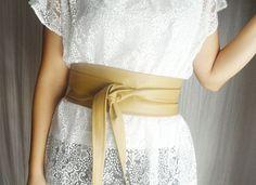Obi belt ecru vegan leather  beige obi belt wide by AliceCloset, €26.50