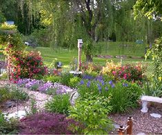 A stunning garden filled with soft colors.