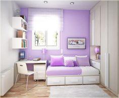 room decor concept, paint two color decor idea.  LOVE the softness of the purple.