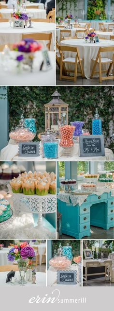 Wedding Details, turquoise, coral, candy bar