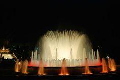 The Magic Fountain of Montjuic, Barcelona, Spain.