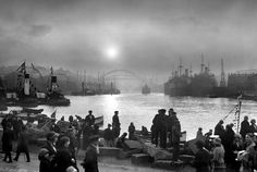 From the river Wear Sunderland England, Family History Book, History Books, Victorian Buildings, North East England, Old Port, Tug Boats, Fishing Villages, Back In Time