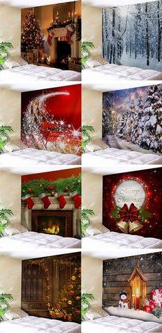 Christmas decor ideas:christmas wall tapestries