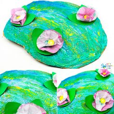Claude Monet Water Lilies Art Project for Kids Claude Monet Water Lilies Art Project for Kids – Arty Crafty Kids Spring Art Projects, Spring Crafts For Kids, Easy Art Projects, Projects For Kids, Art For Kids, Fall Crafts, Claude Monet, Monet Water Lilies, Lily Painting
