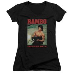 """Checkout our #LicensedGear products FREE SHIPPING + 10% OFF Coupon Code """"Official"""" Rambo:first Blood Ii / Dropping Shells-junior V-neck - Rambo:first Blood Ii / Dropping Shells-junior V-neck - Price: $29.99. Buy now at https://officiallylicensedgear.com/rambo-first-blood-ii-dropping-shells-junior-v-neck"""