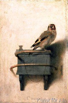 Carel Fabritius - The Goldfinch, 1654